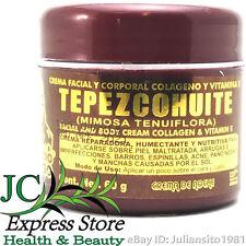 FACIAL AND BODY CREAM TEPEZCOHUITE CREMA DE TEPEZCOHUTE ACNE BURNS WRINKLES 2 oz