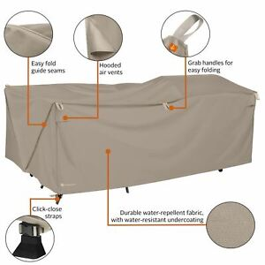 Storigami 100 Inch Easy Fold Patio Furniture Cover, Goat Tan