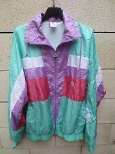 VINTAGE Veste LEOPARD nylon parachute 90's tracktop jacket jacke giacca 180 L D6