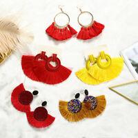 Women Fashion Bohemia Tassel Hook Hoop Erarrings Drop Dangle Earring Jewelry NEW