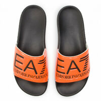 Emporio Armani EA7 Seaworld Mens Sliders Sandals Slipper Orange Size.UK 10.5