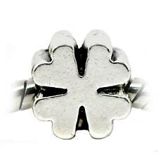 Four Leaf Clover Lucky Good Luck Spacer Bead for Silver European Charm Bracelets