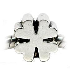 Four Leaf Clover Lucky Good Luck Spacer Bead for Silver European Charm Bracelets