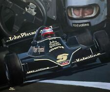 Art card 1978 Lotus Ford 79 #5 Mario Andretti (USA) by Toon Nagtegaal (OE)