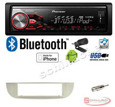 Pioneer MVH-X390BT autoradio USB / bluetooth + Kit per FIAT 500 cinquento bianco