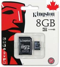 Kingston 8GB Micro SD Memory Card Class 10 plus Free Adapter