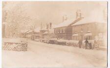 Semi Detached Villas in Heavy Snow c 1910's RP PPC Unposted, Location Unknown
