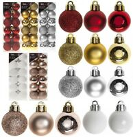 24 Pack 3cm (30mm) Christmas Tree Ornaments Hanging Baubles Xmas Decor