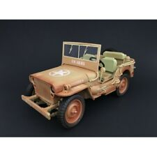 WILLYS US ARMY JEEP - DESERT WEATHERED 1:18 Scale American Diorama AD-77408A