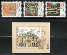 Hungary 1984 MNH Mi 3697A-3699A+Block 173A Sc 2880-2883 Budapest Opera House **