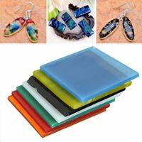 7 Sheets COE 90 Bullseye 7 Colors Square Kiln Fusing Glass Supplies 52x52x3mm