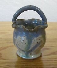 Kings Pottery Seagrove North Carolina Glazed Pottery Basket