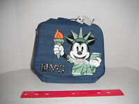 Disney LIBERTY Mickey minnie Mouse Cooler  Bag Lunch Tote Insulated Blue