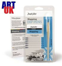 Joseph Gillott MAPPING DIP PENS artists gift set nibs sketching calligraphy