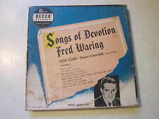 Rare Vintage Songs of Devotion Fred Waring Vol 2 Glee Club  45 RPM's - Set of 4