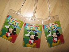 Mickey Mouse Luggage Tags -  Walt Disney Clubhouse Vintage Go Fish Name Tag (3)