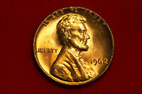 1962 RED Lincoln Cent, DEEP RED, NEVER SPENT !! FROM MINT BAG!