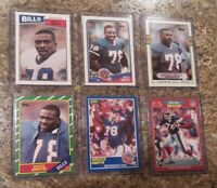 (6) Bruce Smith 1986 Topps 1987 1988 1989 Score Pro Rookie Card Lot RC HOF Bills