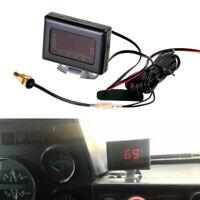 Digital LED Car Auto Water Temp Gauge Temperature Meter+Sensor Set Fits Engine