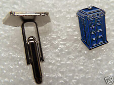 Pair of Stylish Doctor Who Tardis Police Box Cufflinks
