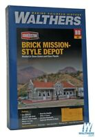 Walthers 933-4055 Brick Mission-Style Santa Fe Depot Kit HO Scale Train