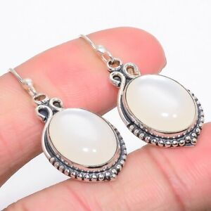 """Mabe Peral Vintage 925 Sterling Silver Jewelry Earring 1.6"""" W2477"""