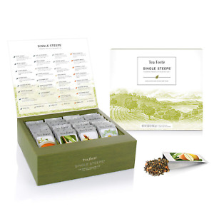 Classic Teas Single Steeps Tea Chest Variety Gift Box Loose Tea Sampler NEW