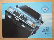 LANCIA RANGE orig 1985 1986 UK Mkt Sales Brochure - Y10 Delta Prisma Thema