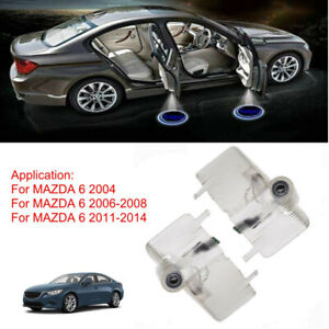 2X Car Door Courtesy LED Logo Projector Shadow Light For MAZDA 6 Welcome Lights