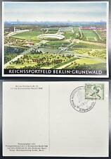 GERMANY 1936 OLYMPICS, special EXPO-Postmark on Sports Filed Pic PPC !!!, Soccer