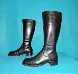 bottes cavalieres Vic Matié en cuir noir  p 37,5 fr