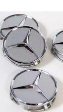 4x Mercedes-Benz AMG Nabendeckel in Silber Felgendeckel Nabenkappe
