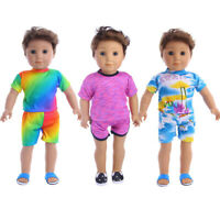 Fits 18 inch American Girl Dolls Zapf Logan Boy Doll Shorts Suit Jacket 2Pcs