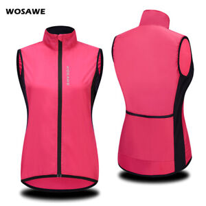 Ladies Windproof Cycling Gilet Running Riding Sports Windbreaker Vest Sleeveless