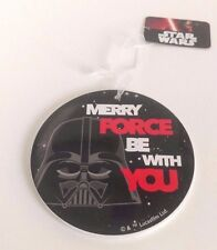 """Star Wars Christmas Tree Decoration Darth Vader """"Merry Force Be With You"""""""