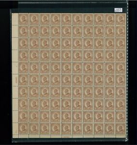 1925 United States Postage Stamp #553 Plate No. 16840 Mint Full Sheet