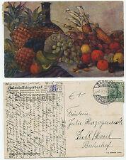 31698 -Früchte aus unseren Kolonien - Kolonialkriegerdank -AK, gelaufen 8.9.1915