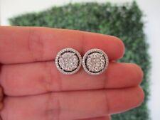 .93 Carat Diamond White Gold 3-Way Earrings 14k JS22E sep