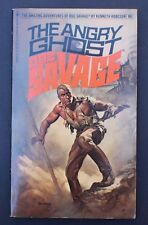 DOC SAVAGE #86 BANTAM 02862 1st THE ANGRY GHOST by KENNETH ROBESON BORIS CVR AF+
