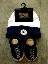 Converse all Star Baby Chucks Black White Socks and Hat 0-6 Months