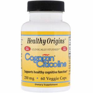 Cognizin Citicoline 250mg 60 Veggie Capsules Acetylcholine Booster Memory