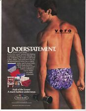 FRUIT OF THE LOOM ad sexy man butt brief underwear vtg 1987 Playboy advert page