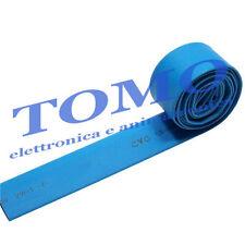 Guaina termorestringente 4,8mm di colore azzurro 1m