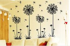 Fiori di tarassaco Adesivi murali adesivi murali neri Decorazioni per la casa