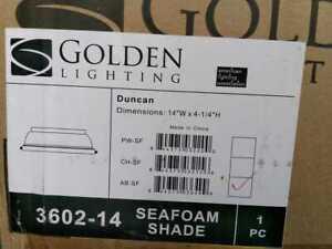 Duncan AB 2-Light Aged Brass Flush Mount Light by Golden Lighting