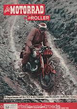 Das Motorrad + Der Roller Heft 20 Oktober 1954 Test Puch SGS-SG Sechs-Tage-Fahrt
