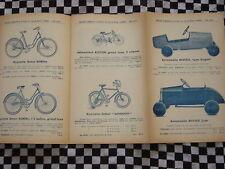 brochure VOITURES PEDALES + VELOMOTEUR ALCYON + BICYCLETTES + TSF + LANDAU
