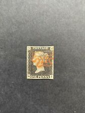 More details for great britain 1840 1d black plate 4 (qj) touching to clear margins used sg 2