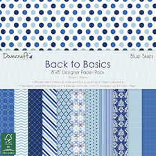 48 SHEET BLUE SKIES FULL PACK 8 x 8 CARD MAKING SCRAPBOOKING CRAFT BACKING PAPER