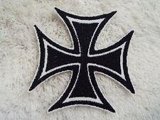 "IRON CROSS 3-3/4"" Embroidery Iron-on Patch (E22)"
